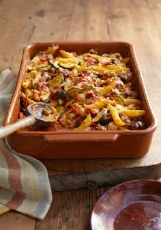 VELVEETA Italian Sausage Bake – zesty and cheesy through and through, with hearty noodles, zucchini and Italian sausage.