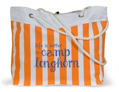 Cabana Beach Bag - Life is Better at Camp Longhorn! We created this adorable tote for Camp Longhorn, available exclusively on their website - follow the link to purchase!