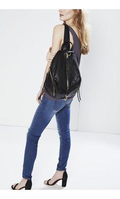Rebecca Minkoff Julian #Backpack Black Color Gold Hardware #bags #Coachella