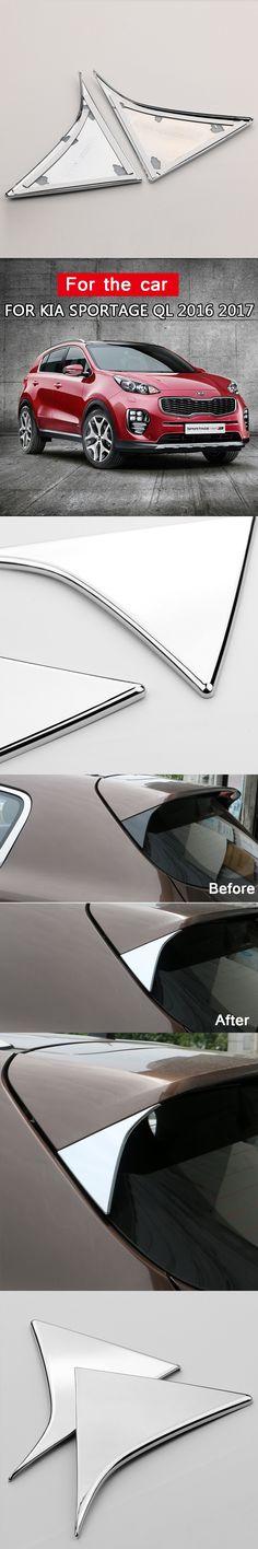 For Kia Sportage 2016 2017 ABS Chrome Side Door Rear View Window Spoiler Cover Trim Triangle Insert Garnish Bezel Car Styling