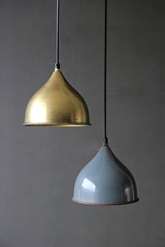 industrial contemporary lighting. small columbia enamel ceiling light in antique brass industrial contemporary lighting