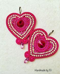 Soutache Earrings, Crochet Earrings, Diy Jewelry, Fashion Jewelry, Shibori, Jewerly, Pink, Beads, Crafts