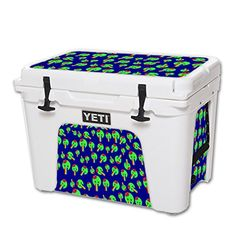 MightySkins Protective Vinyl Skin Decal for YETI Tundra 50 qt Cooler wrap cover sticker skins Rainbow Brains Out >>> Click image for more details.(This is an Amazon affiliate link)