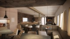 Whiskey Lounge | architectural interior visualisation | www.skyform.eu