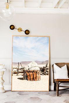 Himba Hut Two Photographic Print | Extra Large Size | © Kara Rosenlund