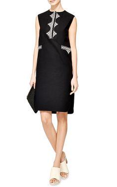 Emma Embroidered Cotton-Piqué Dress by Vilshenko - Moda Operandi