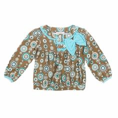 Trish Scully Child Circle Safari Peasant Blouse-Designer Girl Clothes only $26.00 - New Items