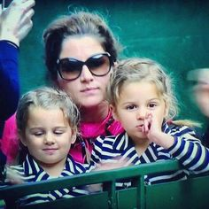 Federer twins look like their dad.