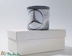 Mercedes kerámia bögre autó rajongói ajándék szülinapra, névnapra, karácsonyra, húsvétra díszdobozban. (Biborvarazs) - Meska.hu Tissue Holders, Facial Tissue, Subaru, Decoupage, Kitchen Decor, Diy, Bricolage, Do It Yourself, Homemade