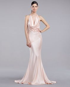 Bias cut silk charmeuse gown with full bias circle cut hem panels ...