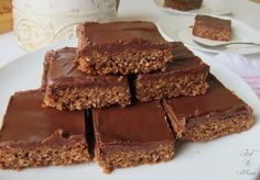 Delicious and Easy Chocolate Cornflake Coconut Slice Cereal Recipes, Baking Recipes, Cake Recipes, Dessert Recipes, Dessert Bars, Kiwi Recipes, Cookie Desserts, Lunch Lady Brownies, Chocolate Coconut Slice