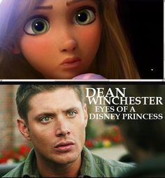 """""""This is ridiculously funny and alarmingly accurate all at once."""" Dean Winchester did come first though. She has the eyes of Dean Winchester. Sam Winchester, Winchester Supernatural, Winchester Brothers, Jared Padalecki, Jensen Ackles, Next Disney Princess, Disney Tangled, Real Princess, Princess Cartoon"""