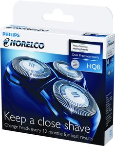 Philips Norelco - HQ8/52 Replacement Shaving Head - Black