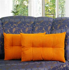 Zari Checks Yellow Filled Pillow Cover (Pack of 2) By Dekor World