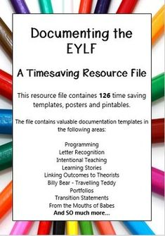 This resource file contains over 126 valuable time saving templates, posters and printables to make documenting your childrens learning easy. Eylf Learning Outcomes, Learning Stories, Learning Resources, Teacher Resources, Childhood Education, Kids Education, Teaching Packs, Early Childhood Program, Educational Psychology