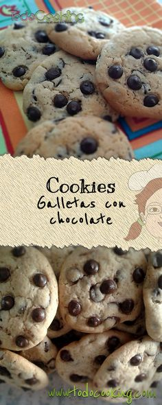 Galletas Chocolate, Chocolate Chip Cookies, Cooking Cookies, Cookie Recipes, Veggies, Interior, Desserts, Food, Dessert