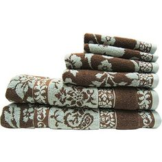 Merveilleux Better Homes And Gardens Thick And Plush 6 Piece Jacquard Cotton Bath Towel  Set In