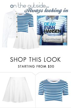 """""""Dear Evan Hansen"""" by sunnbunn ❤ liked on Polyvore featuring Alice + Olivia, Topshop and Dsquared2"""