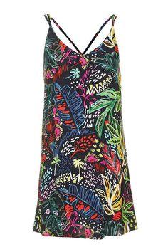 PETITE Jungle Print Slip Dress
