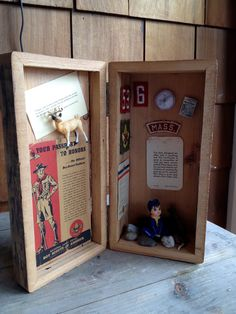 For the boys to make to present to parents at Arrow of Light Crossover? (Boy scout shadowbox // Barley 122)
