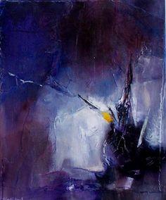grimoire 2 - Painting, 50x61 cm ©2009 by Françoise Vandiedonck - beautifully purple. Holding my breath...