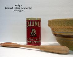 Antique Calumet Baking Powder Tin Can General by EvelynnsAlcove