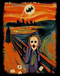 The scream. Gotham edition. #batman #joker #batsign