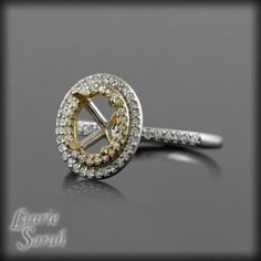Oval Double Halo Engagement Rings On Hand 44