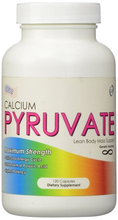 Calcium Pyruvate Fat and Calorie Burner Supplement, 120 Capsules * Check this awesome product by going to the link at the image. (This is an Amazon Affiliate link and I receive a commission for the sales)