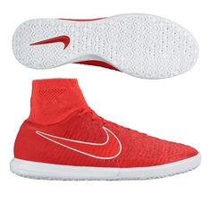 The red color pops off the court as your play burns a hole in the defense. Control the game with the Nike MagistaX Proximo indoor soccer shoes. Order your indoor soccer shoes at SoccerCorner.com.  http://www.soccercorner.com/Nike-MagistaX-Proximo-IC-Indoor-Soccer-Shoe-p/si-ni718358-661.htm
