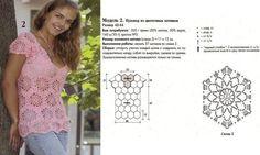 Туники и пончо крючком: модели и сетки для печати!