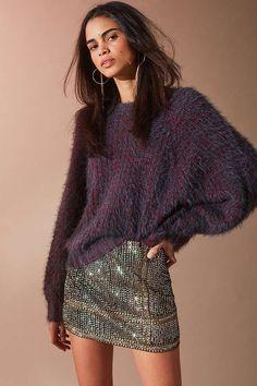 Slide View: 6: UO Sequin Studded Mini Skirt