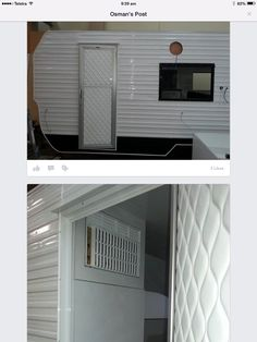 Homemade Caravan Door Caravan Renovation, Caravan Ideas, Home Appliances, Doors, Homemade, House Appliances, Kitchen Appliances, Appliances, Home Made