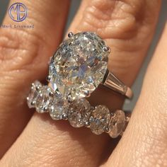 This remarkable 5.32ct vintage oval engagement ring is guaranteed to turn heads!