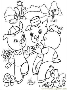 The Three Little Pigs Kids page