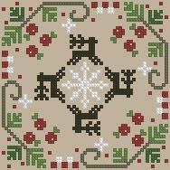 The Floss Box | Biscornu 495 Pdf pattern