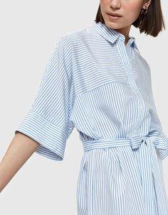 Ion Dress in Blue Stripe | Pinterest: Natalia Escaño