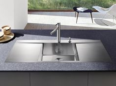Built-in stainless steel sink with drainer BLANCO FLOW 5 S-IF by Blanco