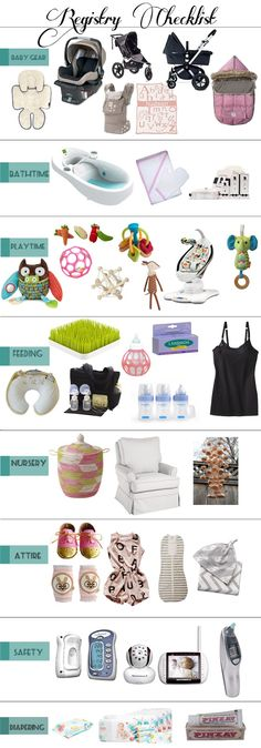 Perfect for first time mommas! #Baby #Registry #checklist