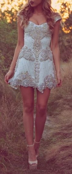 Baby Blue Colour Dress With Stoned And Beads