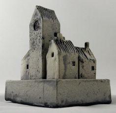 "Raku Walled City, only 3"" x 5"". Mark Strayer, North Star Pottery"
