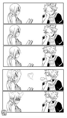 Fairy Tail Nalu. Look at the confident look on nasty's face in the last one :)
