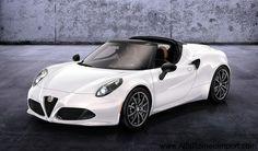 The beautiful Alfa Romeo 4C Spider
