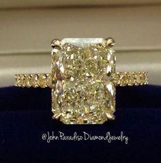 Slightly yellow, but still beautiful engagement ring