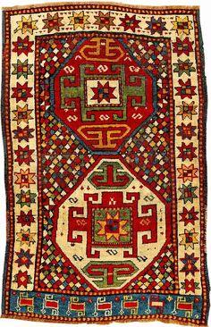Kazak/Shahsavan Rug (Published By Eberhart Herrmann), Caucasus/Northwest Persia Shahsavan-Tribes, 19th century, wool/wool