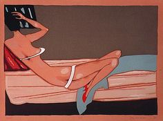 Jerzy Nowosielski 'Venus' Grafika (Serigrafia) 70x93 cm