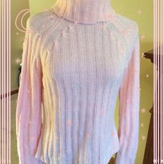 Lt. Pink Chenille sweater was$14 Very soft, chenille knit in soft pink. Very good condition  S O Sweaters