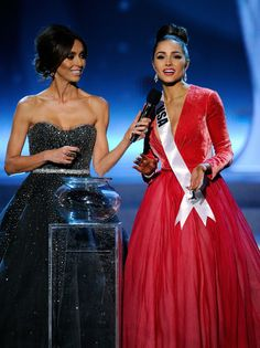 Giuliana Rancic in @Ines Di Santo w/ Miss Universe / photo by David Becker/Getty Images. #fabulous