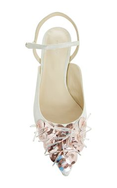 Pink Embroidered Wedge Shoe by DELPOZO Now Available on Moda Operandi