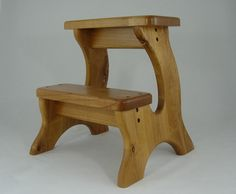 Natural Stained Alder Step Stool Handmade Wooden by LaffyDaffy, $134.99